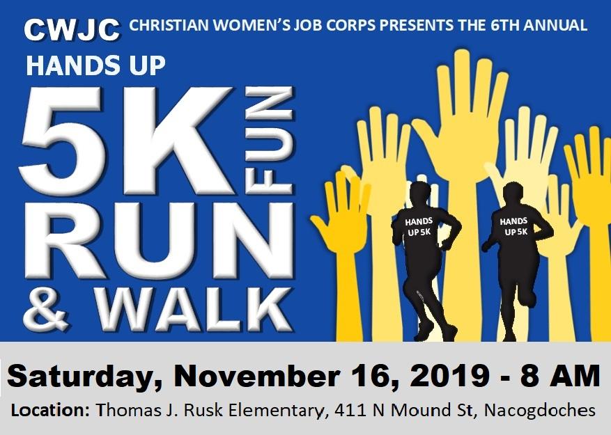 5K CWJC FUN RUN WALK postcard image, event date November 16, 2019